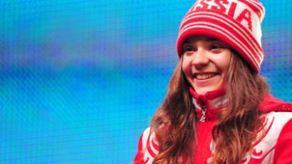 Adelina Sotnikova at Innsbruck Youth Winter Olympics (RIA Novosti / Vladimir Sergeev)