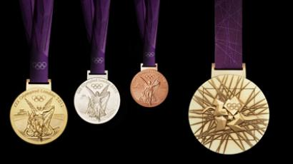 The London 2012 Olympic medals designed by British artist David Watkins. (AFP Photo/LOCOG/HO)