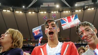 British fans at the packed Olympic stadium at the Laondon Paralympics (RIA Novosti / Iliya Pitalev)