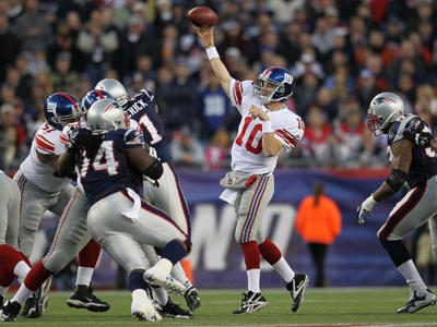 Patriots and Giants to wrangle for Super Bowl