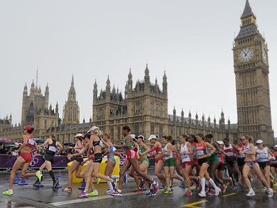 Particiapnts of the women's marathon at the London Olympics (RIA Novosti / Sysoev)