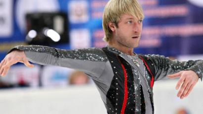 Skater Evgeny Plyushchenko performs freestyle at the Russian Figure Skating Championships (RIA Novosti / Maksim Bogodvid)