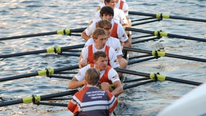 Saint Petersburg State University's rowing team (Image from spbu.ru)