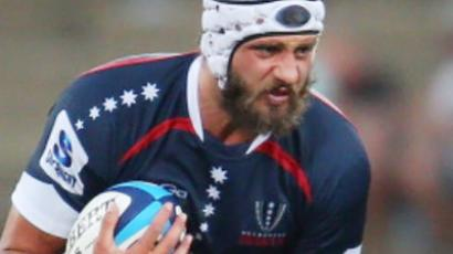 Adam Byrnes playing for the  Melbourne Rebels
