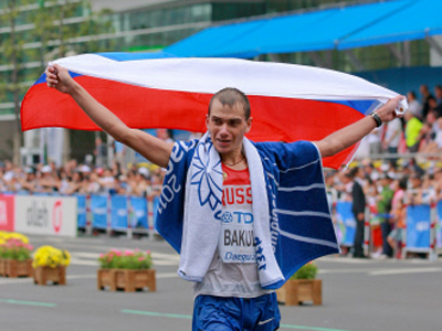 Russian walkers unstoppable in Daegu