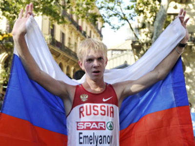 Russia grabs first gold at athletics Euros