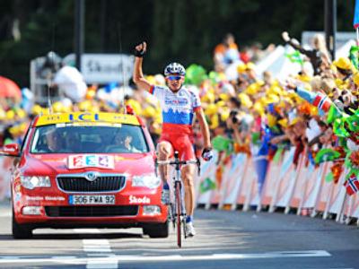 Russian grabs Tour de France stage win
