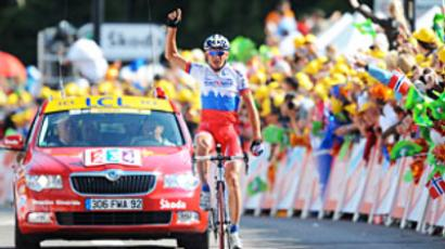 Contador celebrates second Tour de France victory