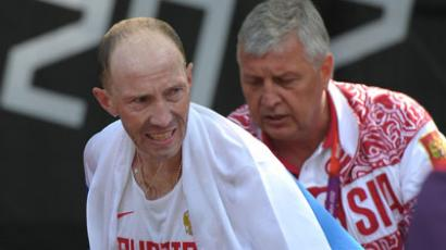 Sergey Kirdyapkin after winning Olympic gold in 50km walk (RIA Novosti / Syisoev)