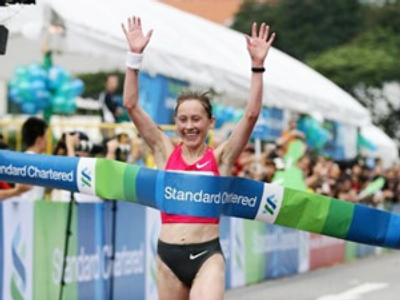 Russian women dominate Singapore marathon