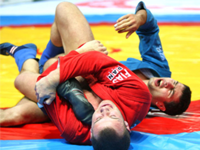 Russians fight their way to President's Sambo Cup