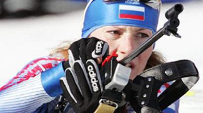 Russia wins first women's biathlon relay of 2010