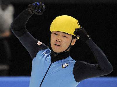 US speed-skater, Simon Cho (AFP Photo/Robert Michael)