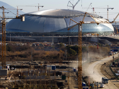 View of the Sochi Olympic village (RIA Novosti / Mikhail Mokrushin)