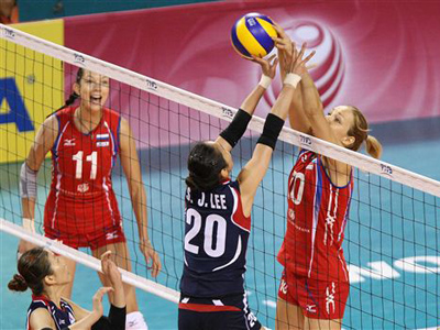 Russia have given just one set away in six games prior to South Korean loss (Image from fivb.org)