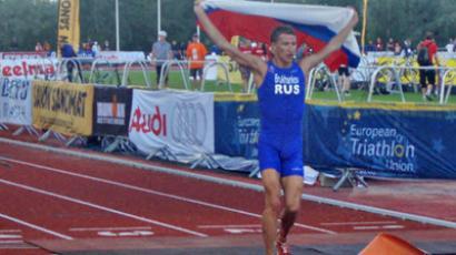 Russia's top triathlete Aleksandr Bryukhankov (Ihoto from ftr.org.ru)