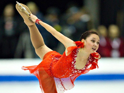 Elizaveta Tuktamisheva of Russia performs in the free skate during Skate Canada International on October 29, 2011 in Mississauga, Canada. (AFP Photo / Geoff Robins)