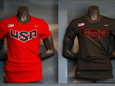 The uniforms of the 2012 US Olympic team (Reuters / Mike Blake)