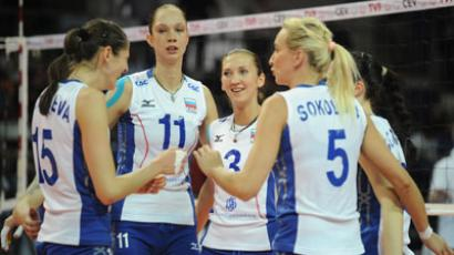Russian team players Tatyana Kosheleva, Ekaterina Gamova, Maria Perepelkina and Lyubov Sokolova (left to right). ( RIA Novosti / Syisoev )