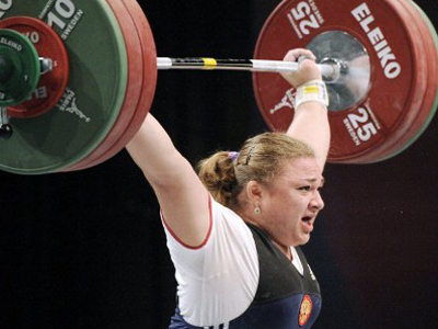 Russian weightlifters prove European class