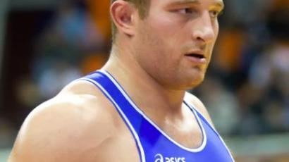 Russia's Hasan Baroev in Greco-Roman wrestling finals at the European Nations Cup. (RIA Novosti/Mikhail Fomichev)