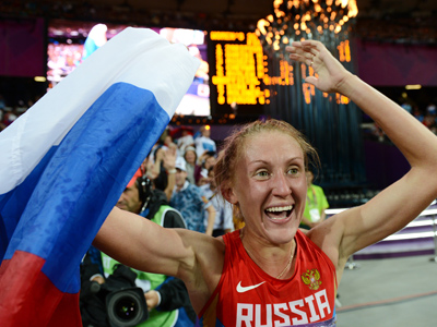 Russia's Zaripova first in 3000m steeplechase