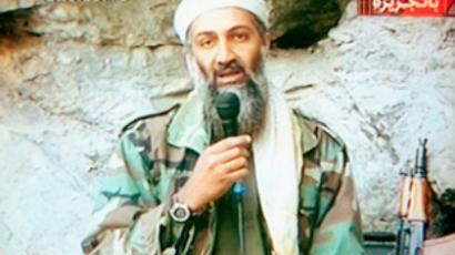 Osama Bin Laden appears on Al-Jazeera Television praising the attacks of September 11th (Photo by Maher Attar)