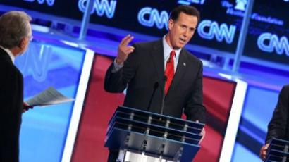 Republican presidential candidates former U.S. Sen. Rick Santorum  (AFP Photo / Mark Wilson)