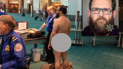 Police charged John E. Brennan with disorderly conduct and indecent exposure after he disrobed while going through the security screening area at the airport Tuesday evening.Photographer: Multnomah County Sheriff's Office, courtesy Brian Reilly(Photo from www.wptv.com)