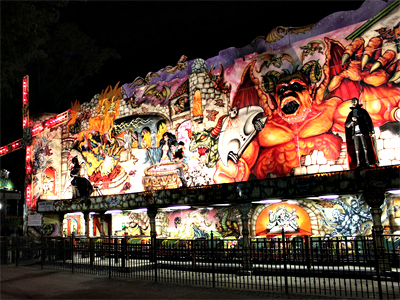 Rye Playland, Outside of Flying Witch at night, 2010 (Photo from http ...