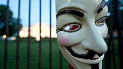 Guy Fawkes mask.(AFP Photo / Nicholas Kamm)