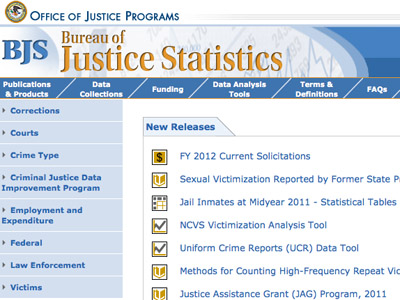 Screenshot from bjs.ojp.usdoj.gov