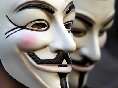 Anonymous accuses NSA of fear-mongering. (Reuters / Stefano Rellandini)