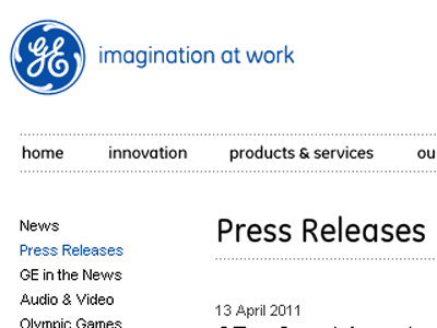 Pranksters circulated a fake press release pretending to represent General Electric.