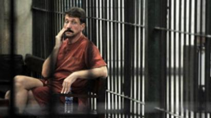 Viktor Bout in a cell at the Criminal Court in Bangkok (AFP Photo / Nicolas Asfouri)