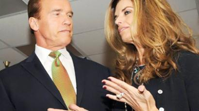 Arnold Schwarzenegger and Maria Shriver (AFP Photo /Mark Ralston)