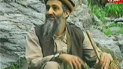 "TV grab taken from al-Jazeera channel shows al-Qaeda chief Osama bin Laden in an ""undetermined mountain area."" (AFP Photo / Al-Jazeera)"