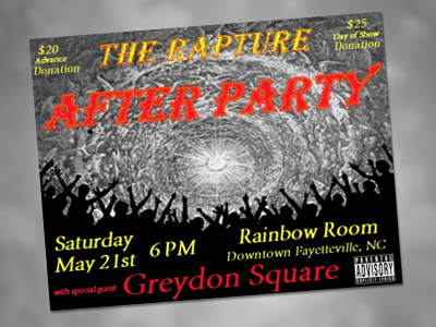 Atheists to party like there's no tomorrow!