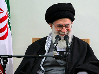A handout photo provided by the office of Iran's supreme leader Ayatollah Ali Khamenei shows him addressing a meeting with members of the Assembley of Experts in Tehran on March 8, 2012 (AFP Photo)