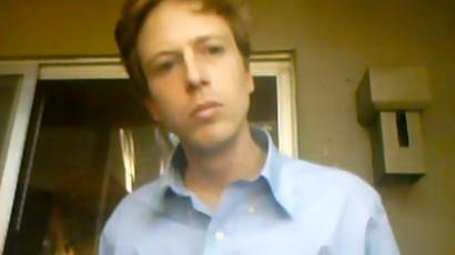 Barrett Brown.(Screenshot from YouTube user Barrett Brown)