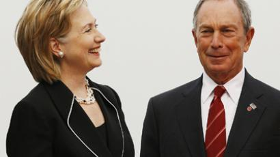 Secretary of State Hillary Clinton and Mayor of New York City, Michael Bloomberg. (Reuters / Lucas Jackson)