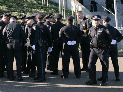 Police officers from Boston (Justin Sullivan/Getty Images/AFP)