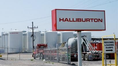 Halliburton facility in Port Fourchon, Louisiana is seen on April 8, 2011 (AFP Photo / Mira Oberman)