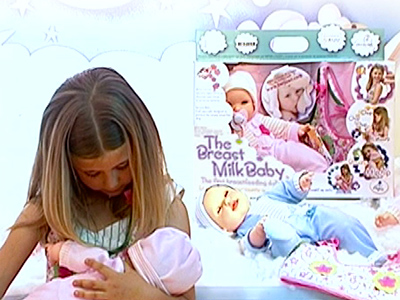 Breast-feeding doll shocks Americans
