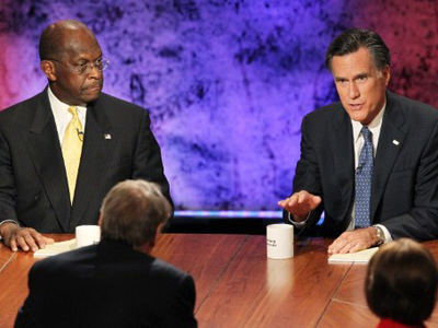 Cain and Romney caught in campaign cash scandal