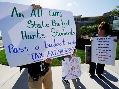 California teachers protest education cuts