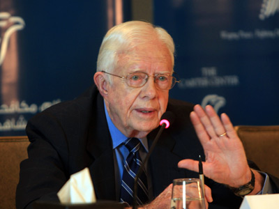Former US President Jimmy Carter (AFP Photo / Mahmud Hams)