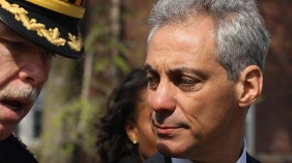 Chicago Mayor Rahm Emanuel (R) (AFP Photo / Scott Olson)