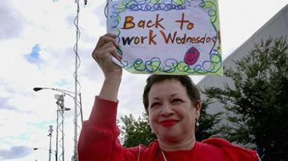 Chicago Teachers Union (CTU) delegate Lisa Jason. (AFP Photo/Scott Olson)