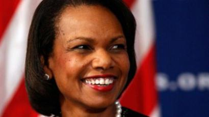"Former Secretary of State Condoleezza Rice talks about her new book, ""Extraordinary, Ordinary People: A Memoir of Family,"" during the Newsmakers luncheon at the National Press Club October 15, 2010 in Washington, DC. (Chip Somodevilla/Getty Images/AFP)"